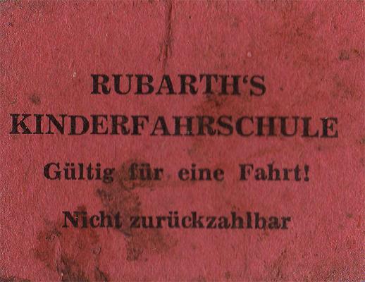 Rubarth's Kinderfahrschule - Gültig nur für eine Fahrt! Nicht rückzahlbar